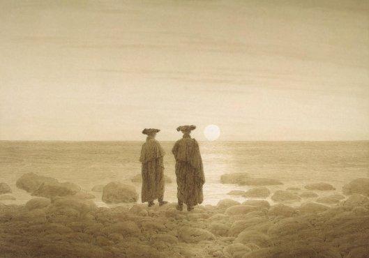 Friedrich Caspar David - Moonrise (Two Men on the Shore)